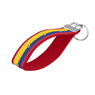 Colombian flag wrist keychain