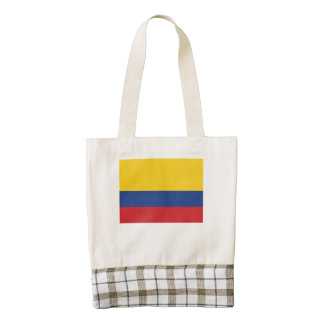 Colombian Flag Zazzle HEART Tote Bag