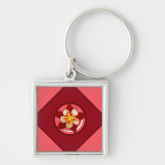 Colombian Flower Crescent Keychain