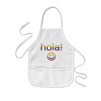 Colombian Gifts : Hello / Hola + Smiley Face Kids' Apron