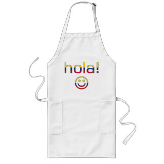 Colombian Gifts : Hello / Hola + Smiley Face Long Apron