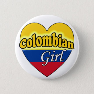Colombian Girl Pinback Button