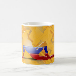 Colombian Girl Silhouette Flag Coffee Mug