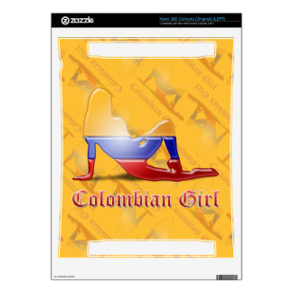 Colombian Girl Silhouette Flag Decal For The Xbox 360