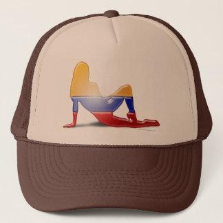 Colombian Girl Silhouette Flag Trucker Hat