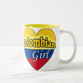 Colombian Girl Two-Tone Coffee Mug