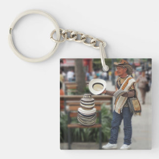Colombian Hat Vendor Keychain