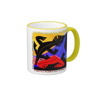 Colombian Lizard Coffee Cup Ringer Coffee Mug