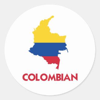 COLOMBIAN MAP STICKER