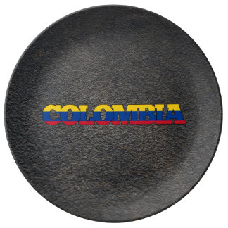 Colombian name and flag plate