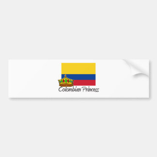 Colombian Princess Bumper Sticker