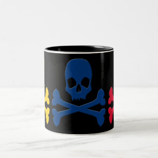 Colombian Skulls Two-Tone Coffee Mug