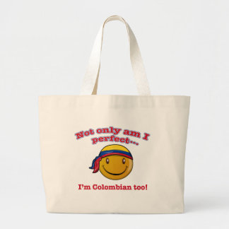 Colombian smiley design canvas bag