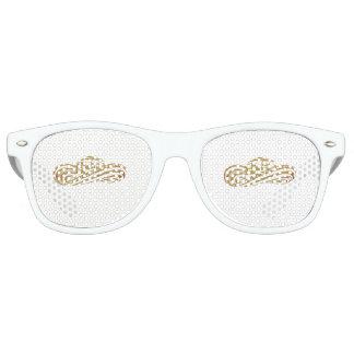 Colombian Sombrero Vueltiao in Gold Leaf Retro Sunglasses