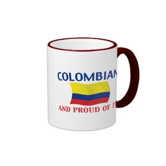 Colombiano orgulloso taza de dos colores