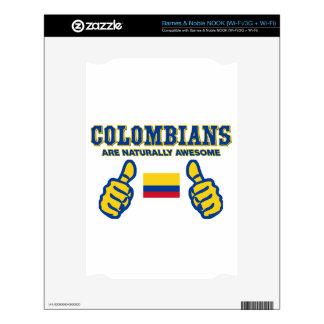 colombians are naturally awesome decals for NOOK