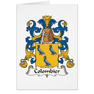 Colombier Family Crest Greeting Card