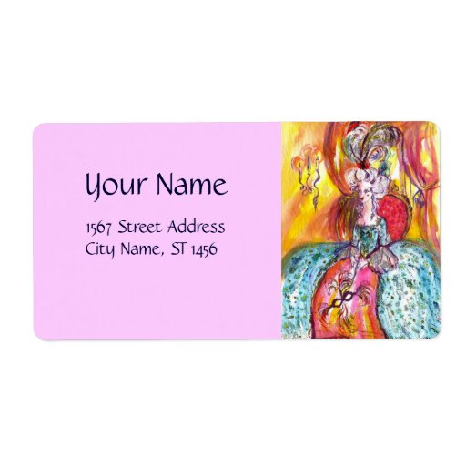 COLOMBINA  pink Personalized Shipping Label