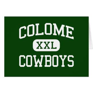 Colome - vaqueros - alto - Colome Dakota del Sur Tarjeta De Felicitación