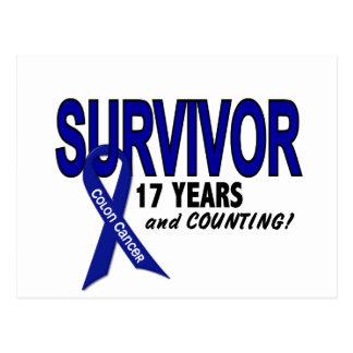 Colon Cancer 17 Year Survivor Postcard