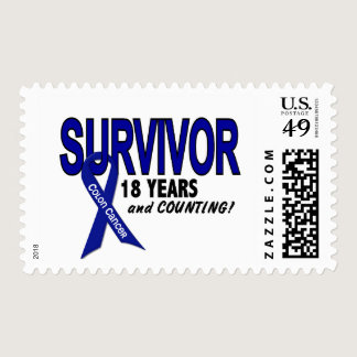 Colon Cancer 18 Year Survivor Postage