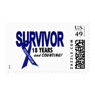 Colon Cancer 18 Year Survivor Stamp