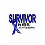 Colon Cancer 19 Year Survivor Postcard