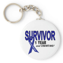 Colon Cancer 1 Year Survivor Keychain