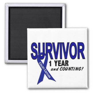 Colon Cancer 1 Year Survivor Refrigerator Magnet
