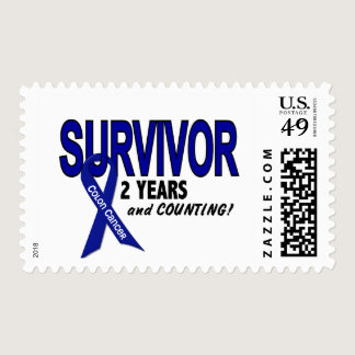 Colon Cancer 2 Year Survivor Postage
