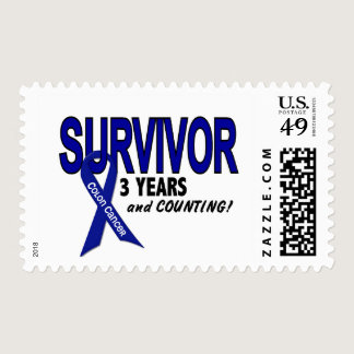Colon Cancer 3 Year Survivor Postage