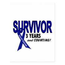 Colon Cancer 3 Year Survivor Postcard