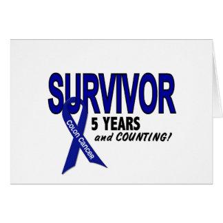 Colon Cancer 5 Year Survivor Card