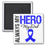 Colon Cancer Always My Hero My Dad 2 Inch Square Magnet
