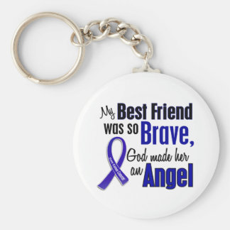 Colon Cancer ANGEL 1 Best Friend (Female) Basic Round Button Keychain