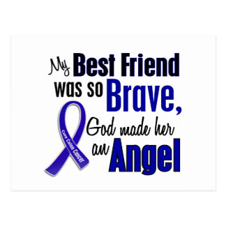 Colon Cancer ANGEL 1 Best Friend (Female) Postcard