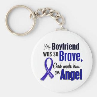 Colon Cancer ANGEL 1 Boyfriend Basic Round Button Keychain