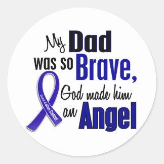 Colon Cancer ANGEL 1 Dad Classic Round Sticker