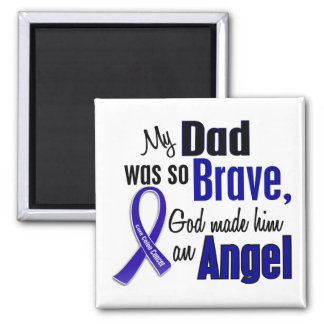 Colon Cancer ANGEL 1 Dad 2 Inch Square Magnet