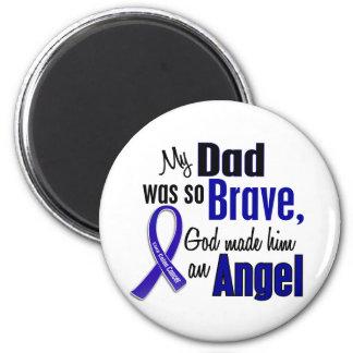 Colon Cancer ANGEL 1 Dad 2 Inch Round Magnet
