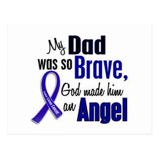 Colon Cancer ANGEL 1 Dad Postcard
