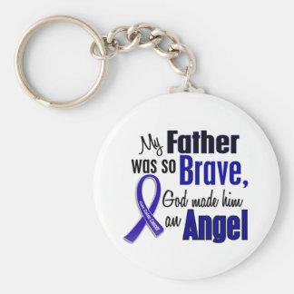 Colon Cancer ANGEL 1 Father Basic Round Button Keychain