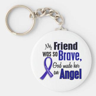 Colon Cancer ANGEL 1 Friend (Female) Basic Round Button Keychain