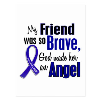 Colon Cancer ANGEL 1 Friend (Female) Postcard