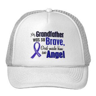 Colon Cancer ANGEL 1 Grandfather Trucker Hats