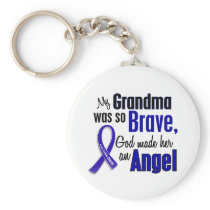 Colon Cancer ANGEL 1 Grandma Keychain