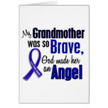 Colon Cancer ANGEL 1 Grandmother Greeting Cards