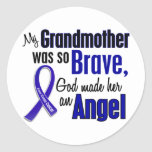 Colon Cancer ANGEL 1 Grandmother Stickers