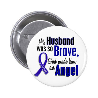 Colon Cancer ANGEL 1 Husband 2 Inch Round Button