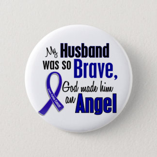 Colon Cancer ANGEL 1 Husband Button